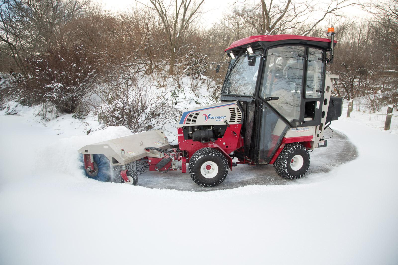 Hb580 Sidewalk Snow Broom Morgantown Wv Sunset