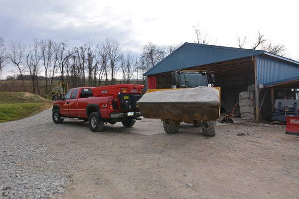 Bulk Salt at Sunset Outdoor Supply in West Virginia